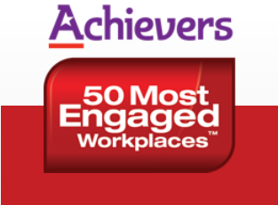 Achievers 50 most engaged workplace award