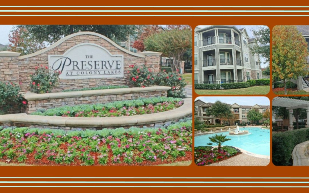 Venterra Acquires Preserve at Colony Lakes Apartments in Stafford, TX!