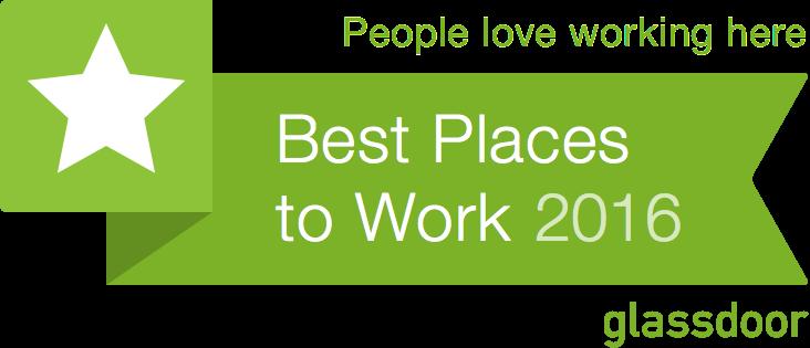 We're a 2016 Glassdoor Best Places to Work Winner!