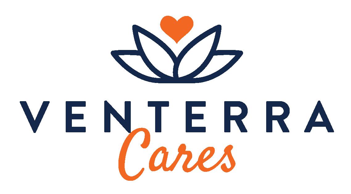 venterra cares logo - giving tuesday