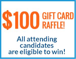 $100 gift card raffle san antonio maintenance career fair