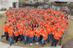 great place to work orange fun shirt