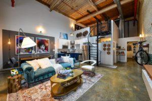 canton mills lofts interior