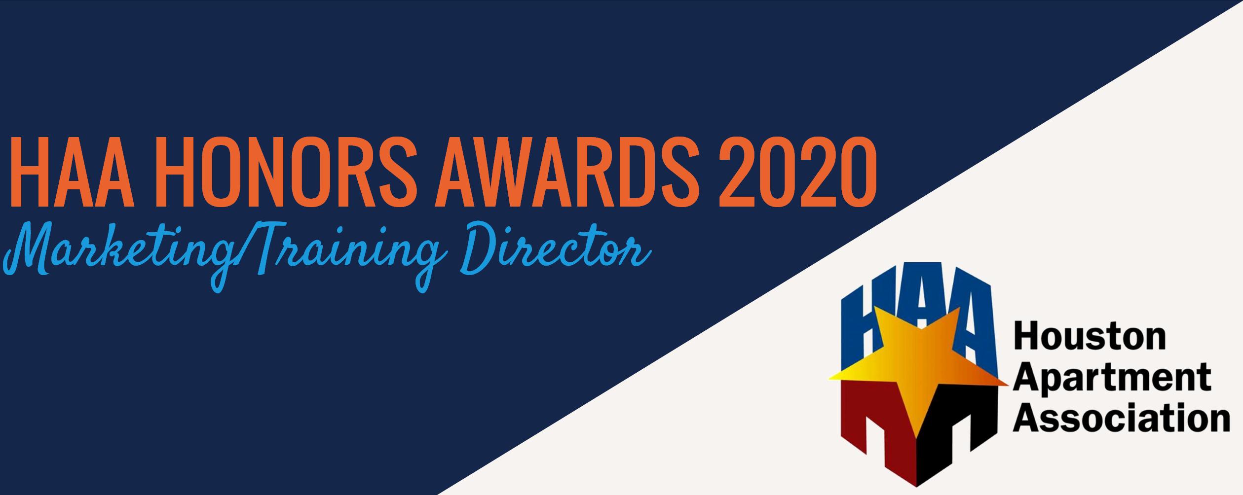 Mollie Witt Wins the HAA Marketing/Training Director Award
